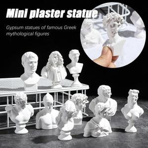 Greek Mythology Figurine David Head Portraits Bust Mini Gypsum Statue Drawing Practice Crafts Plaster Sculpture Nordic Decor