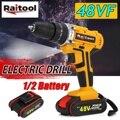 Raitool 48VF Elektrische Bohrer Akku-bohrschrauber Elektrische Schraubendreher Wireless Power Fahrer DC Lithium-Ion Batterie mit LED Licht