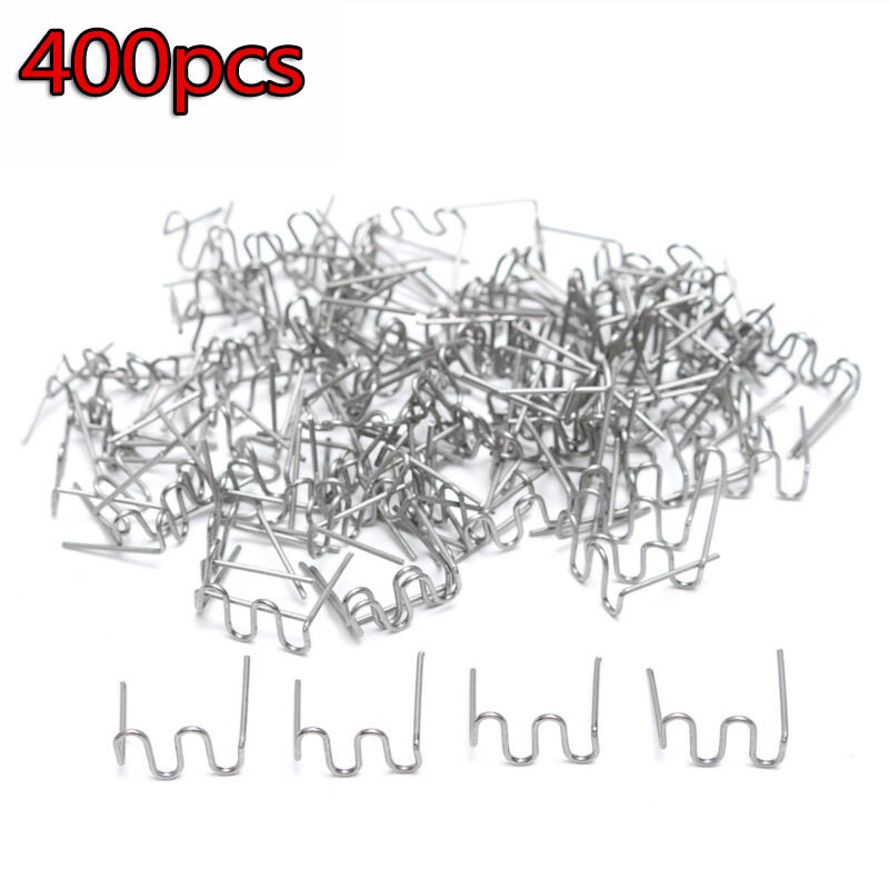 400 Pcs/Set 0.8 Mm Precut 0.8mm Wave Flat Hot Staples For Plastic Stapler Repair Welder