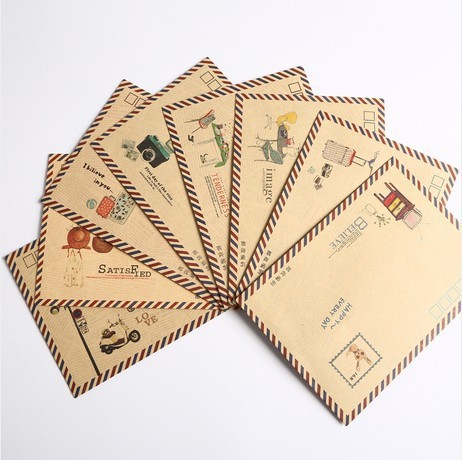 Manufacturers Wholesale Creative Love-Retro Envelope Wholesale Postman Envelope B6 Size Postcard Letter