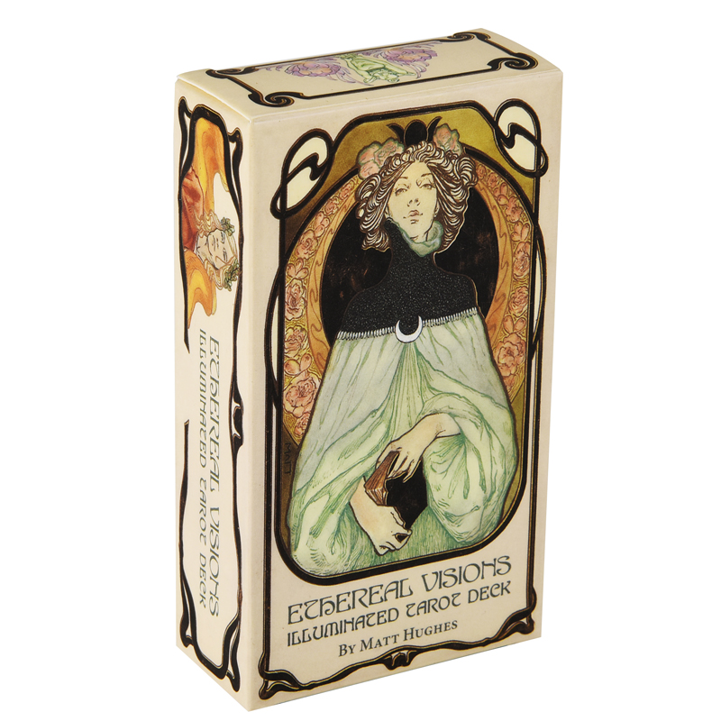 Ethereal Visions Illuminated Tarot Deck Cards Game English Tarot Deck Table Card Board Games Party Playing Cards Family Games