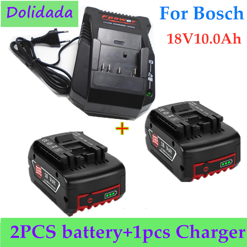 100% original 18V18000mAh Rechargeable For Bosch 18V18.0Ah Battery Backup Portable Replacement BAT609 Indicator light+3A Charger