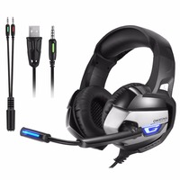 Gaming Headset PS4 casque Gamer Headset XBox one Headset Gaming Headphone For Computer With Microphone Splitter Adapter Cable