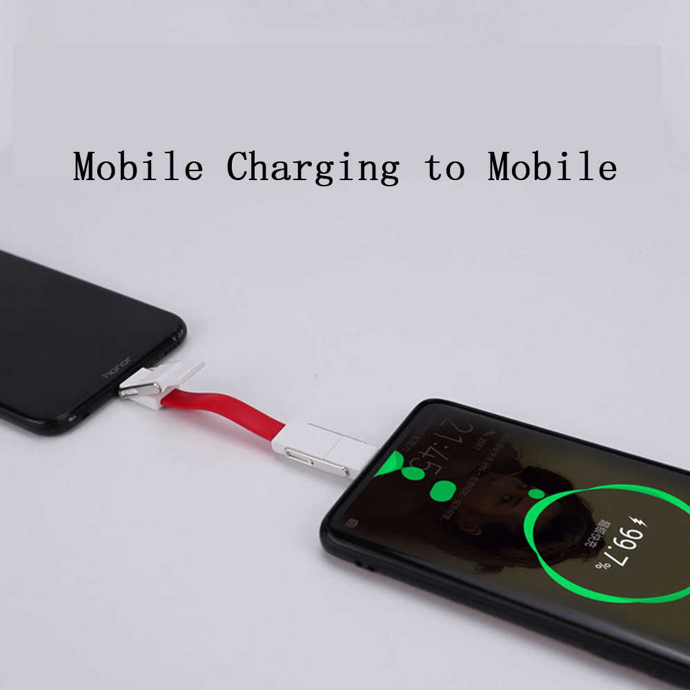 Ngắn Mini Móc Khóa Micro USB Sạc Dữ Liệu Cáp Sạc Type C Sạc Nhanh Dữ Liệu Dây Cáp dùng cho Iphone Cáp