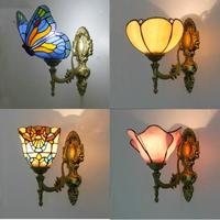 Vintage Turkish Wall Lamp Bedroom Aisle Corridor Bathroom Stained Glass Lampshade Butterfly Wall Light|LED Indoor Wall Lamps|Lights & Lighting -