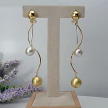 Yuminglai 24K Dubai Gold Earrings Brazilian Earrings Dangle Earrings FHK8048(China)