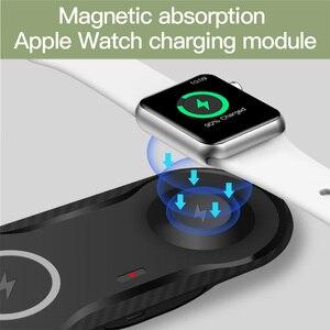 Image 4 - FDGAO 2 in 1 10W Qi Wireless Charger Stazione di Aggancio Della Vigilanza Fast Charger Pad Ricarica Per Apple Orologio 2 /3/4/5 iPhone 11 Pro X Xs
