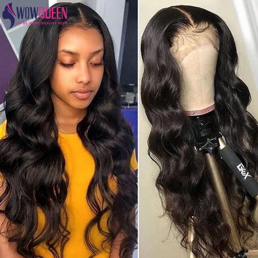 WowQueen 30 инч объёмная волна Синтетические волосы на кружеве парик предварительно вырезанные 13x6 Синтетические волосы на кружеве al парик 5x5 кру...