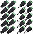 Разъем питания постоянного тока, Штекерный адаптер, 100 пар, 12 В, 5 А, штекер + гнездо, 2,1X5,5 мм, разъем питания для светодиодной ленты камеры виде...