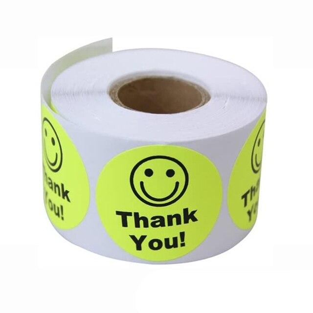 5 colores/Set etiqueta adhesiva fluorescente de sellado para teléfono adhesivos decorativos bricolaje regalo las etiquetas del paquete diámetro 3,5 cm