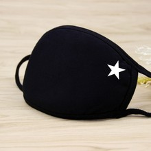 Zwarte Vijfpuntige Ster Katoen Mond Masker Unisex Tieners Anti stof Mascarillas Anime Mode Gezondheid Gezichtsmasker 20*12.5Cm