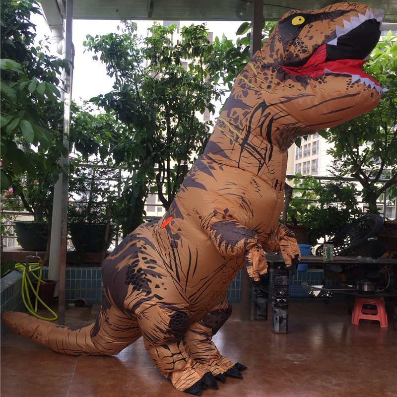 Cosplay Feminino Dragon t rex Dino Rider Suit T-Rex Costume Purim Adult Men Halloween Inflatable Dinosaur Costume For Kids Women (2)