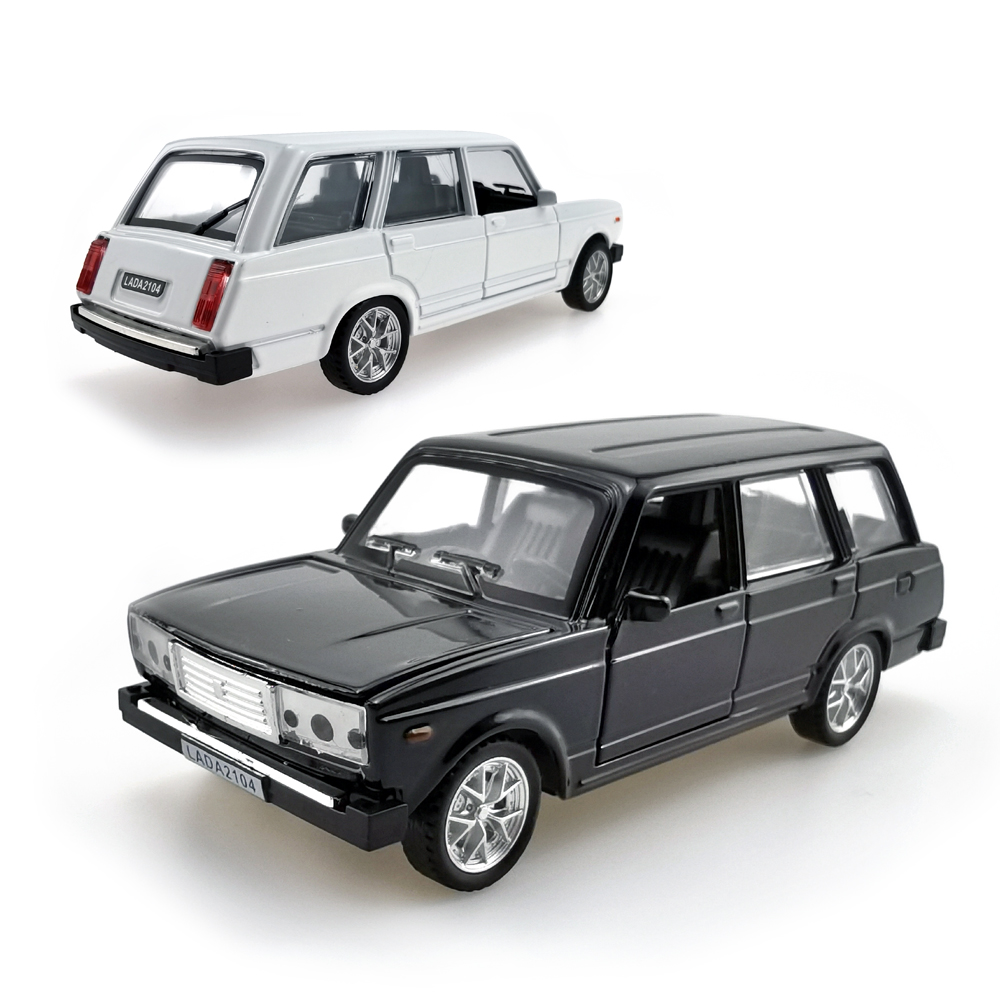 LADA 2104 1:32 Scale Diecast Car Toys, Pull-Back Motor Alloy Vehicle Model With Sound & Light