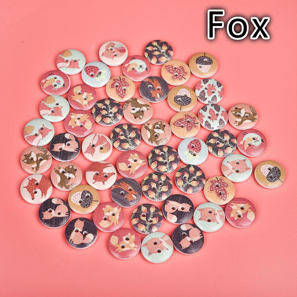 Set of 100pcs Mix Big Wood Buttons Decorative Vintage Needlework DIY 2-Hole 15mm