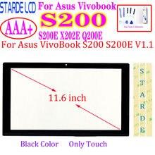 Сенсорный экран для Asus VivoBook S200 S200E X202E Q200E, стекло с дигитайзером, сменная сенсорная панель, черный