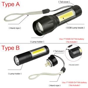 Image 4 - 8000Lumens COB LED Flashlight Super Bright Waterproof Handheld Flashlights Torch Lantern Work Light for Emergency Lighting