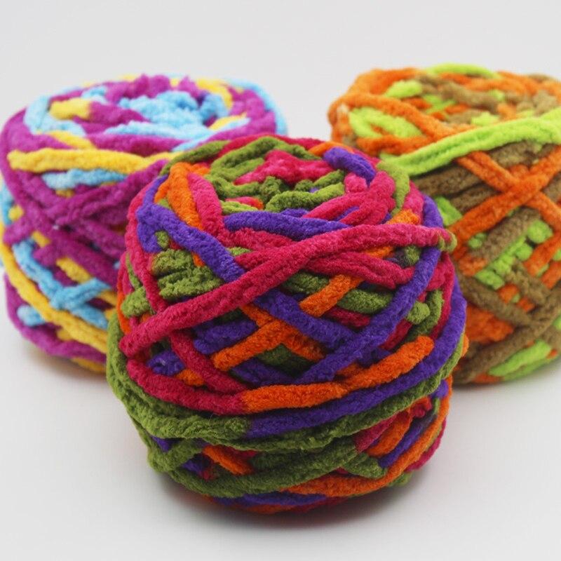 Lã tricô crochê macio pleuche veludo fio de lã tecido diy acessórios de costura