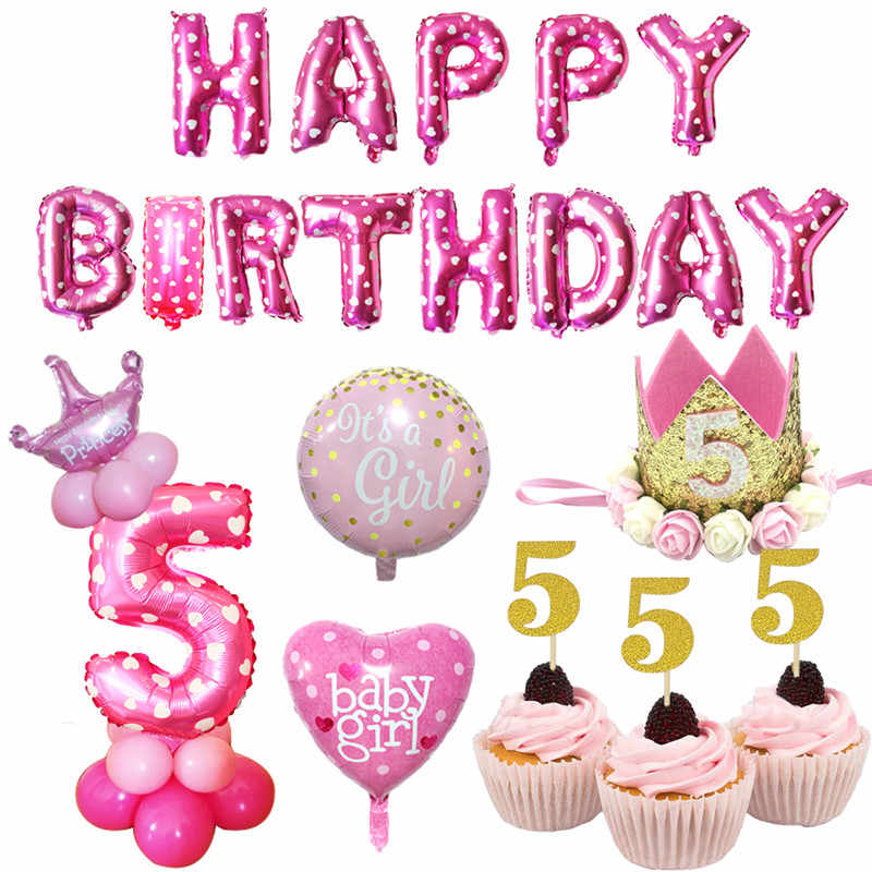 Happy Birthday Vector Design With Number Five For A Five Year Royalty Free Cliparts Vectors And Stock Illustration Image 138040604