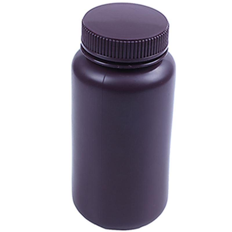Screw Cap Cover 500ml Liquid Chemicals Storage Reagent Bottle Brown