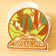 Craving Wilderness Patch Embroidered Patches For Clothing DIY Hook Loop Patch Camping Iron On Patches On Clothes Sewing Patch платье glamorous glamorous gl008ewdjmh8