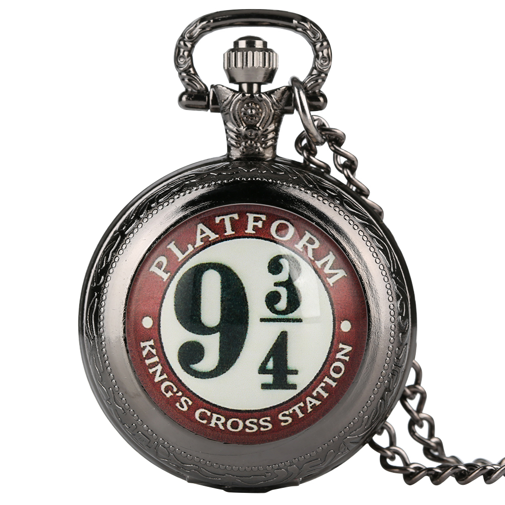New Antique Quartz Middle Pocket Watch Nine 3/4 Design Pendant Watches Necklace Pendant With Chain Gift Unisex Reloj De Bolsillo