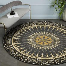 Persian Style Round Rugs and Carpets for Living Room Classic Flower Print Bedroom Floor Mat Study Room Coffee Table Area Rugs(China)