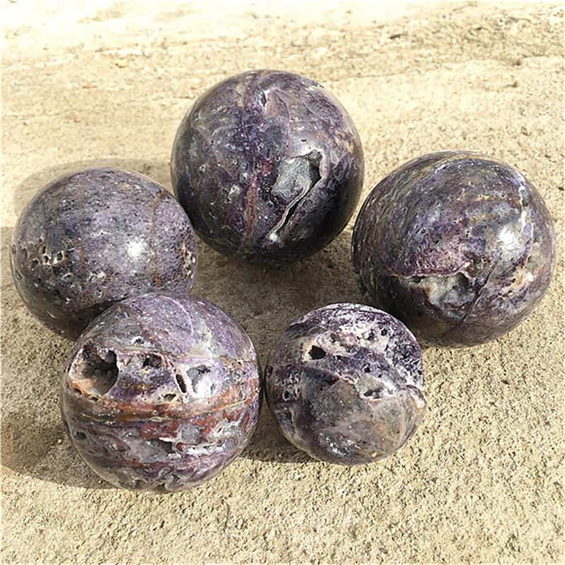 Natural gemstone crystals healing stones sphalerite sphere ball for feng shui decoration