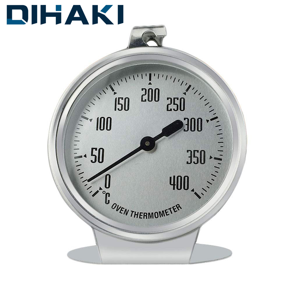 Oven Thermometer 400 Celsius Dial Temperature Measurement for Baking BBQ Food Thermometer High-grade Stainless Steel