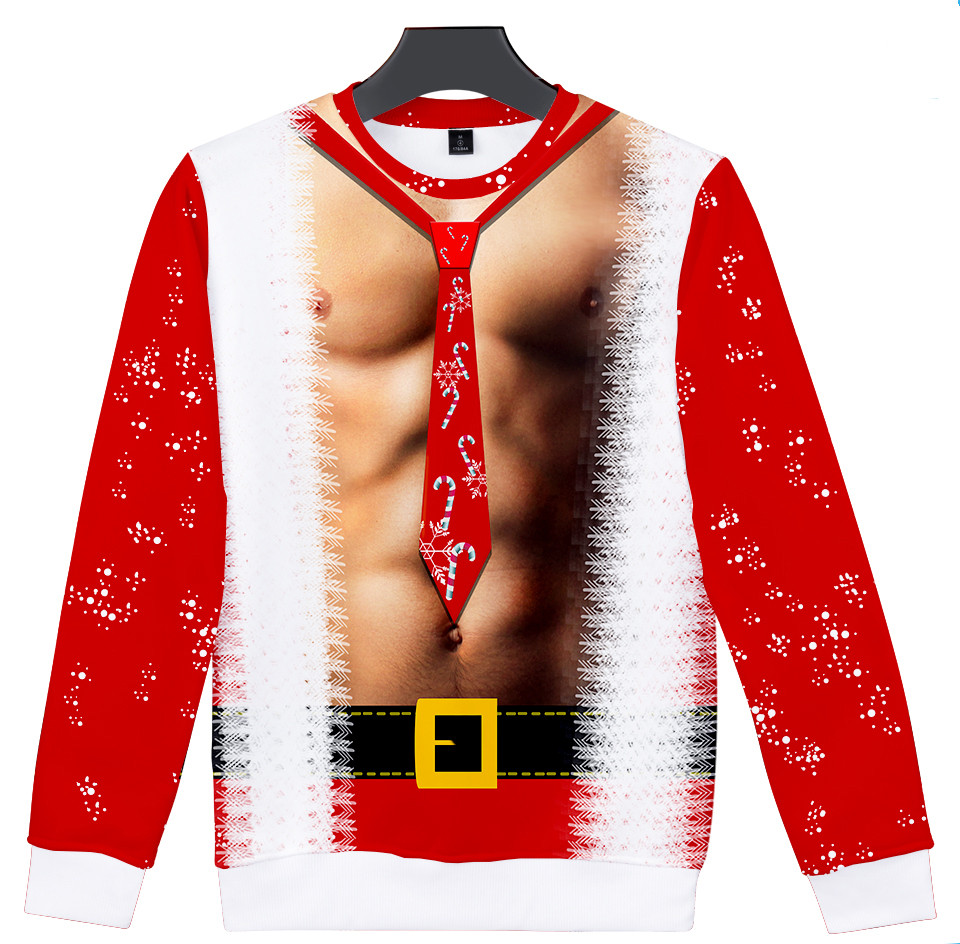 WAMNI Funny Ugly Christmas Body Sweater Unisex Men Women Vacation Pullover Sweaters Jumpers Tops Novelty Autumn Winter Clothing