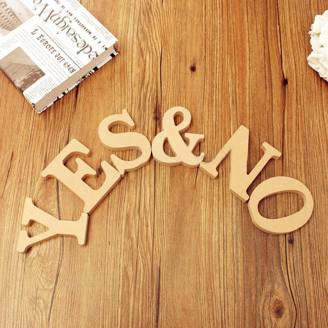 Freestanding A-Z Wood DIY Wooden Letters Alphabet Hanging Wedding Birthday Home Party Decor Design Decorations Arts Crafts 4