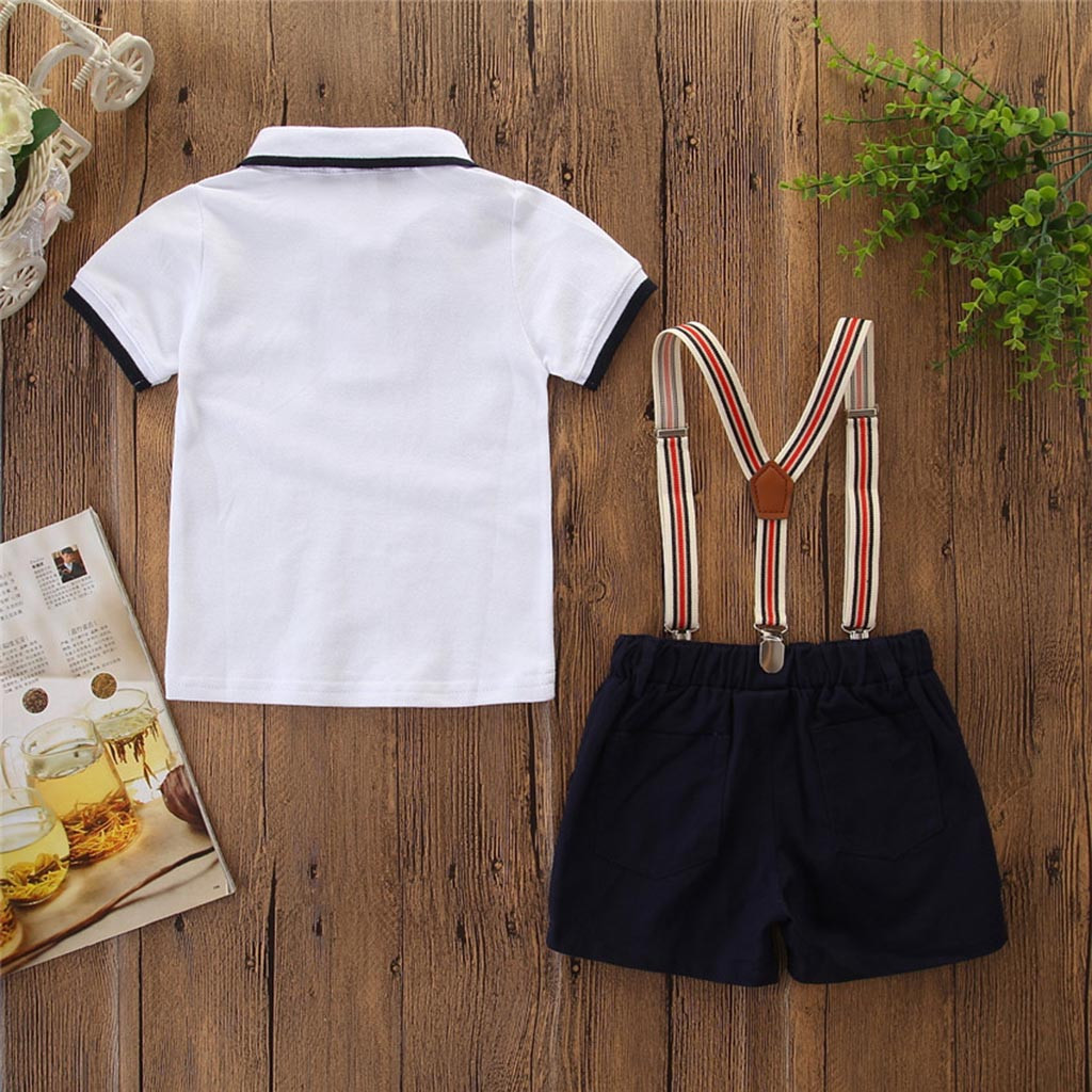 Shorts Set Party Formal Size 2-6 Years Summer Kids Boys Gentleman Outfit Shirt