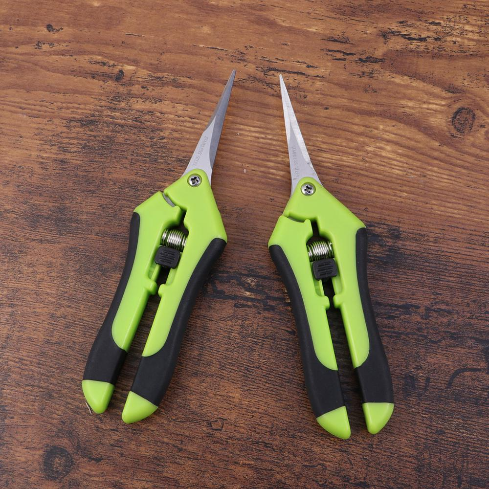 2 Pcs Gardening Scissors for Fruit and Flower Picking including Branch Pruning and Grass Trimming 2