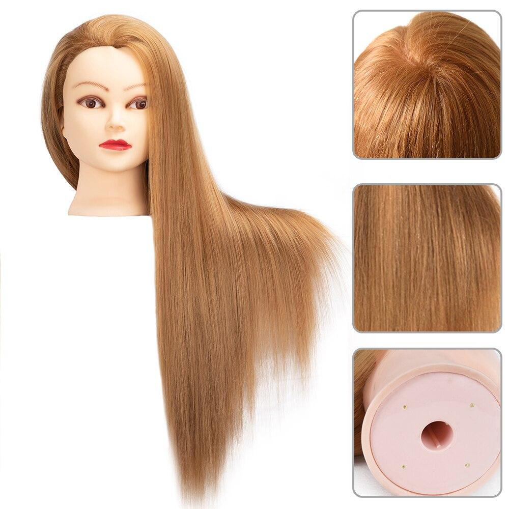 Голова куклы для парикмахеров 65 см волосы синтетический манекен голова прически женский манекен парикмахерский стиль учебная голова