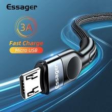 Essager Micro USB câble 3A chargeur de charge rapide Microusb fil cordon pour Samsung Xiaomi Redmi Android téléphone portable câble de données 2M