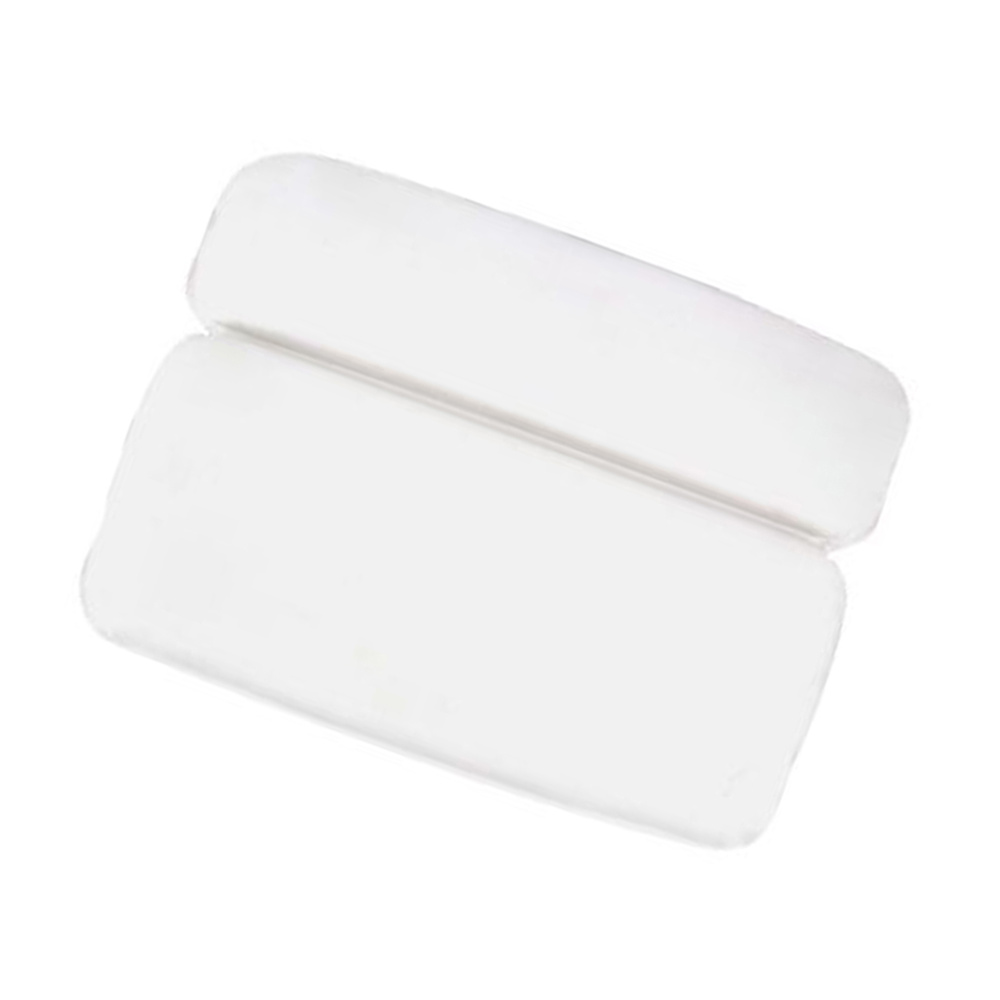 Waterproof PU Bath Cushion Bath Pillow with Strong Suction Cups for Recovery in Home Spa Bathing Pillow