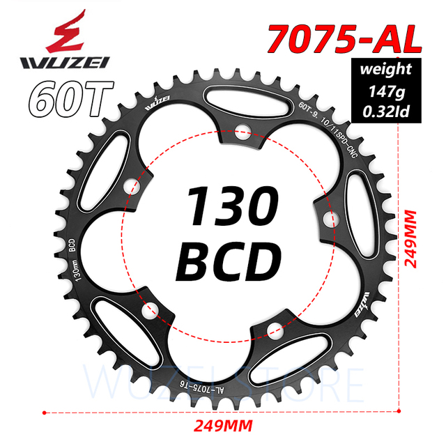 Road bike Round Narrow Wide Sprockets 110 BCD 50//52//54//56//58//60T Chainwheel.