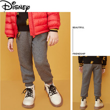 Disney 2019 Boy Trousers Casual Autumn and Winter Pants Mickey Print Fashion Childrens Black New