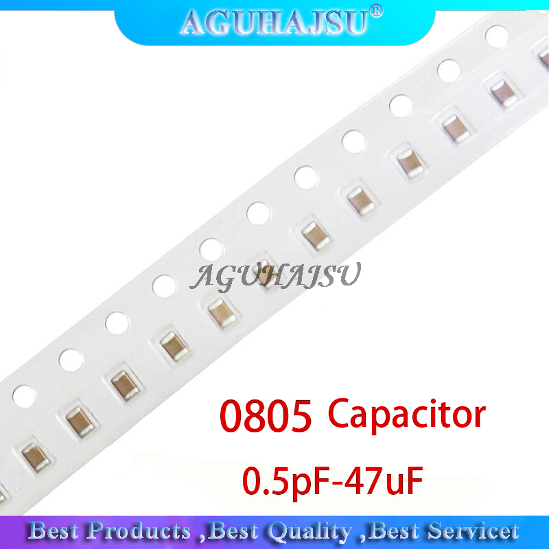 100pcs <font><b>0805</b></font> 50V SMD Thick Film Chip Multilayer Ceramic Capacitor 0.5pF-47uF 10NF <font><b>100NF</b></font> 1UF 2.2UF 4.7UF 10UF 1PF 6PF image