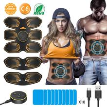 ANLAN Electric Stimulation Muscle Wireless Stimulator Trainer Fitness EMS Massager Slimming Belt Unisex