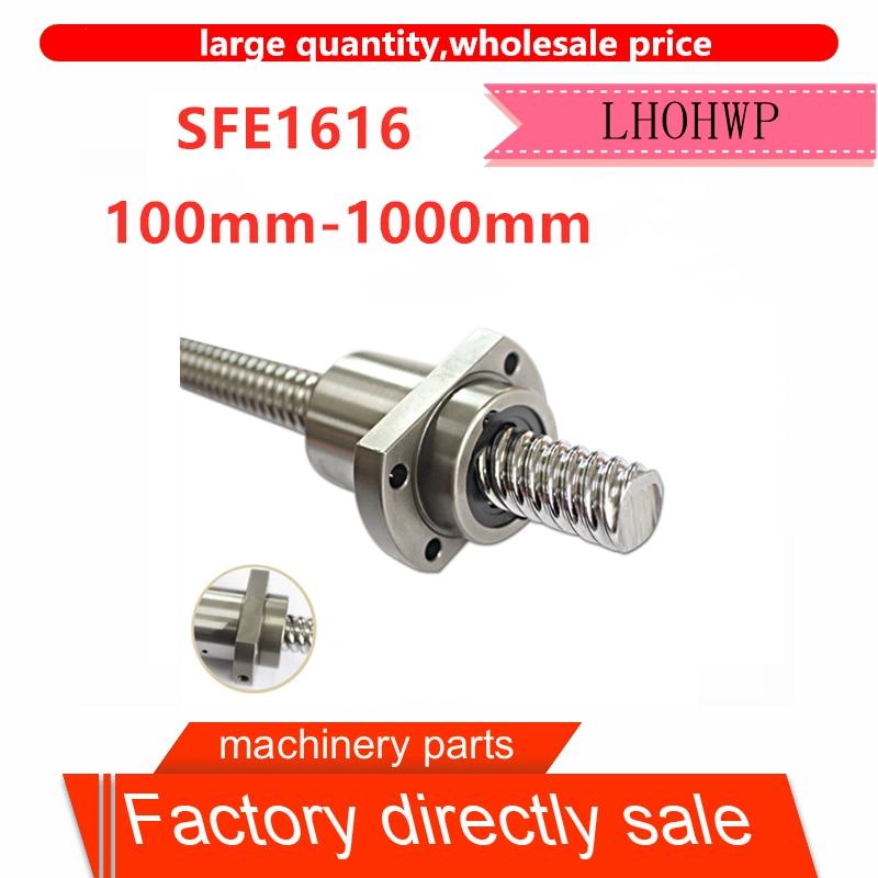 SFE1616 Large Lead Screw Sfe 100mm-1000 Mm BKBF12 / EKEF12 / FKFF12 Final Processing 1 PC + 1pc Single Nut SFE1616