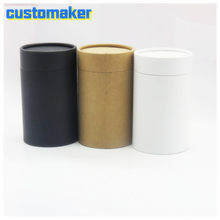30pcs 3.6cm 4.5cm 6.2cm 7.6cm Plastic caps end shipping postal mailing round kraft packaging cardboard paper tube custom height(China)