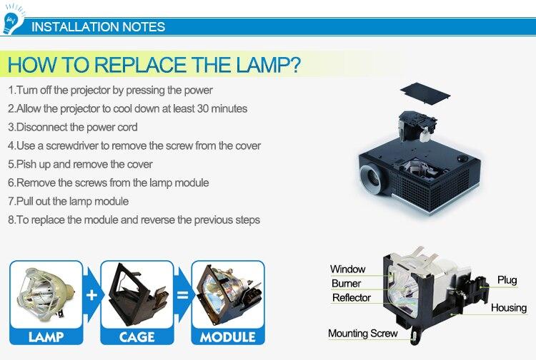 Substituição np32lp 100013962 lâmpada do projetor para