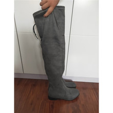 suede leather shose women Winter Increase Bandage Long High Overknee boots Woman