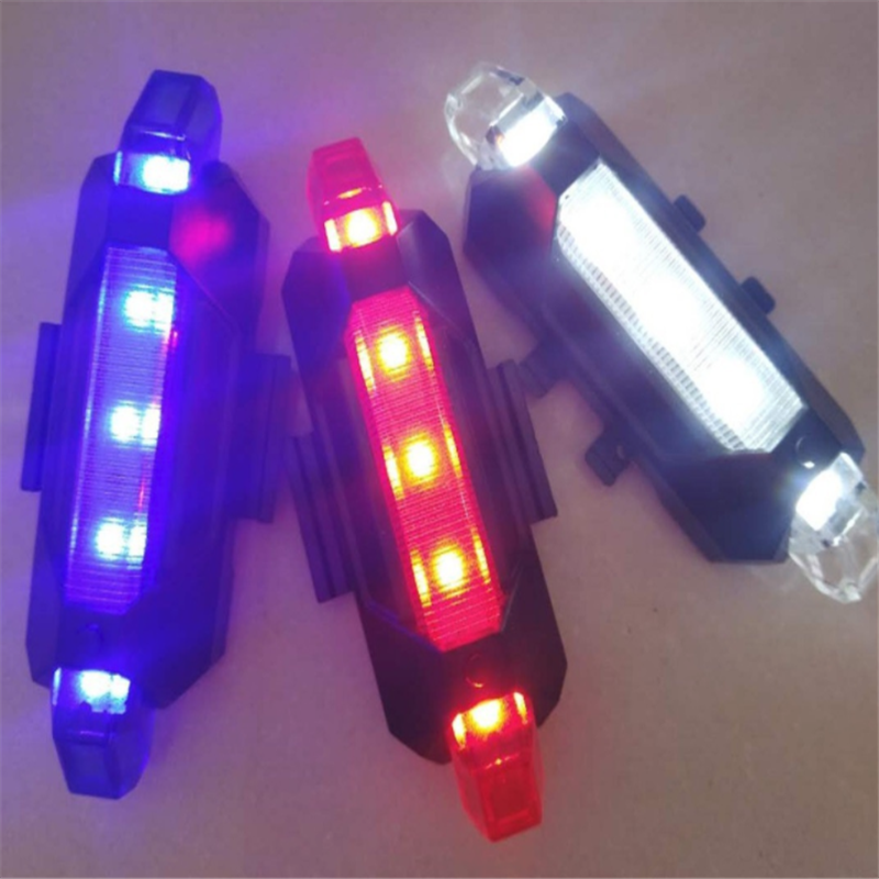 New Bike Bicycle USB Light LED Taillight Rear Tail Safety Warning Cycling Portable Light,USB Style Rechargeable Or Battery Style