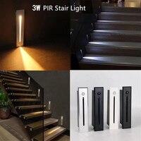 3W wbudowany rogu ściany PIR czujnik ruchu światła prostokąt Led krok dekoracji lampa kryty/na zewnątrz korytarz schody u nas państwo lampy w Zewnętrzne lampy ścienne od Lampy i oświetlenie na