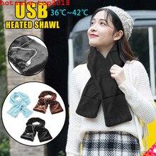 Invierno eléctrico calentador bufanda mujer chal cálido cuello portátil USB suave al aire libre Casual Bufandas Vintage elegante señora Bufandas Hombre
