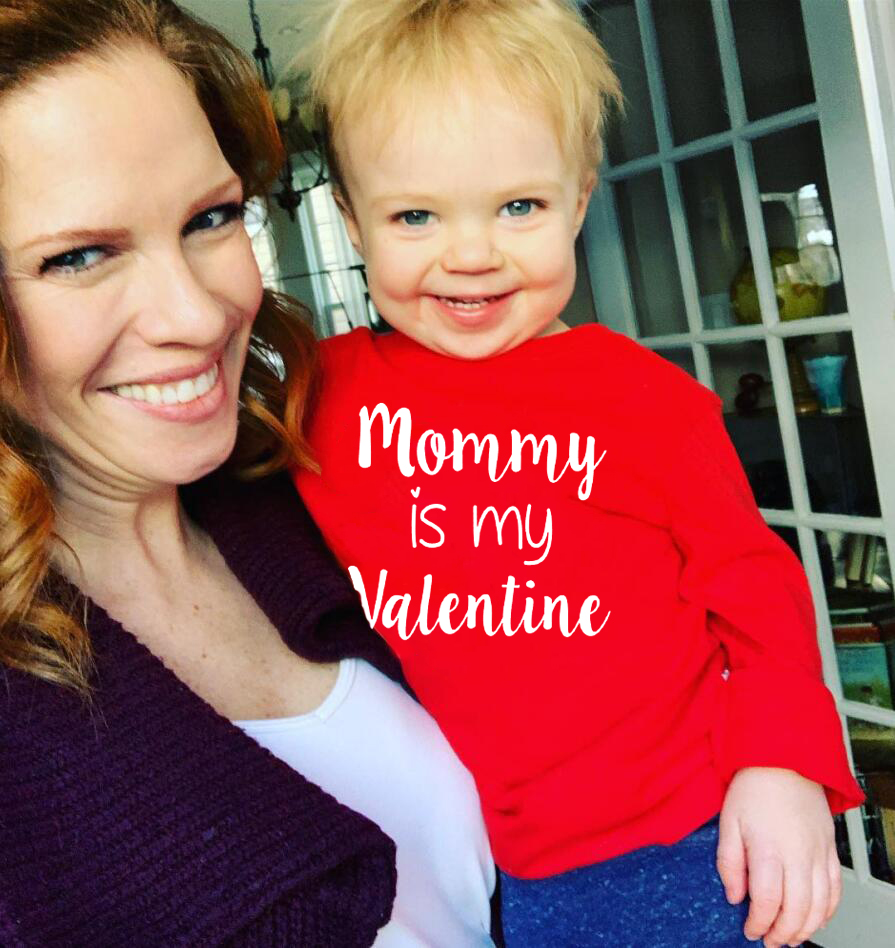 Mommy Is My Valentine Babybooy Tshirts Valentine's Day Long Sleeve Tops Tee Shirts Mummy Life Sweet Gifts Fashion Valentine image