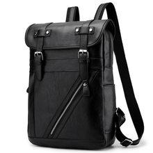 Männer PU Vintage Leder Rucksack Freizeit Reisetasche männer Notebook Rucksack 15,6 Zoll Wasserdichte Rucksack Student Tasche