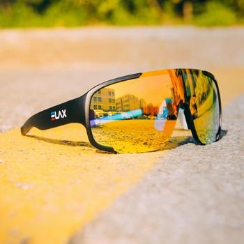 ELAX marka 2020 nowe kolarstwo na świeżym powietrzu okulary górskie okulary motocyklowe okulary przeciwsłoneczne na rower mężczyźni okulary rowerowe Mtb sportowe okulary przeciwsłoneczne tanie i dobre opinie QUISVIKER UV400 53 mm MULTI 153 mm Z poliwęglanu Unisex Z OCTANU Cycling