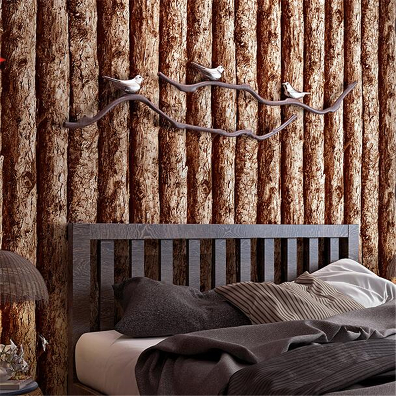 Wellyu rétro nostalgique 3d simulation planche de bois papier peint restaurant chinois fond de pot chaud grain de bois papier peint